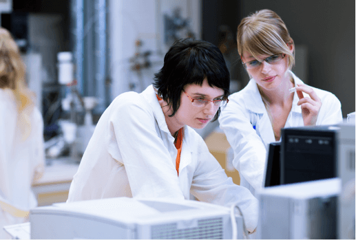 Two Female Doctors Looking at a Monitor